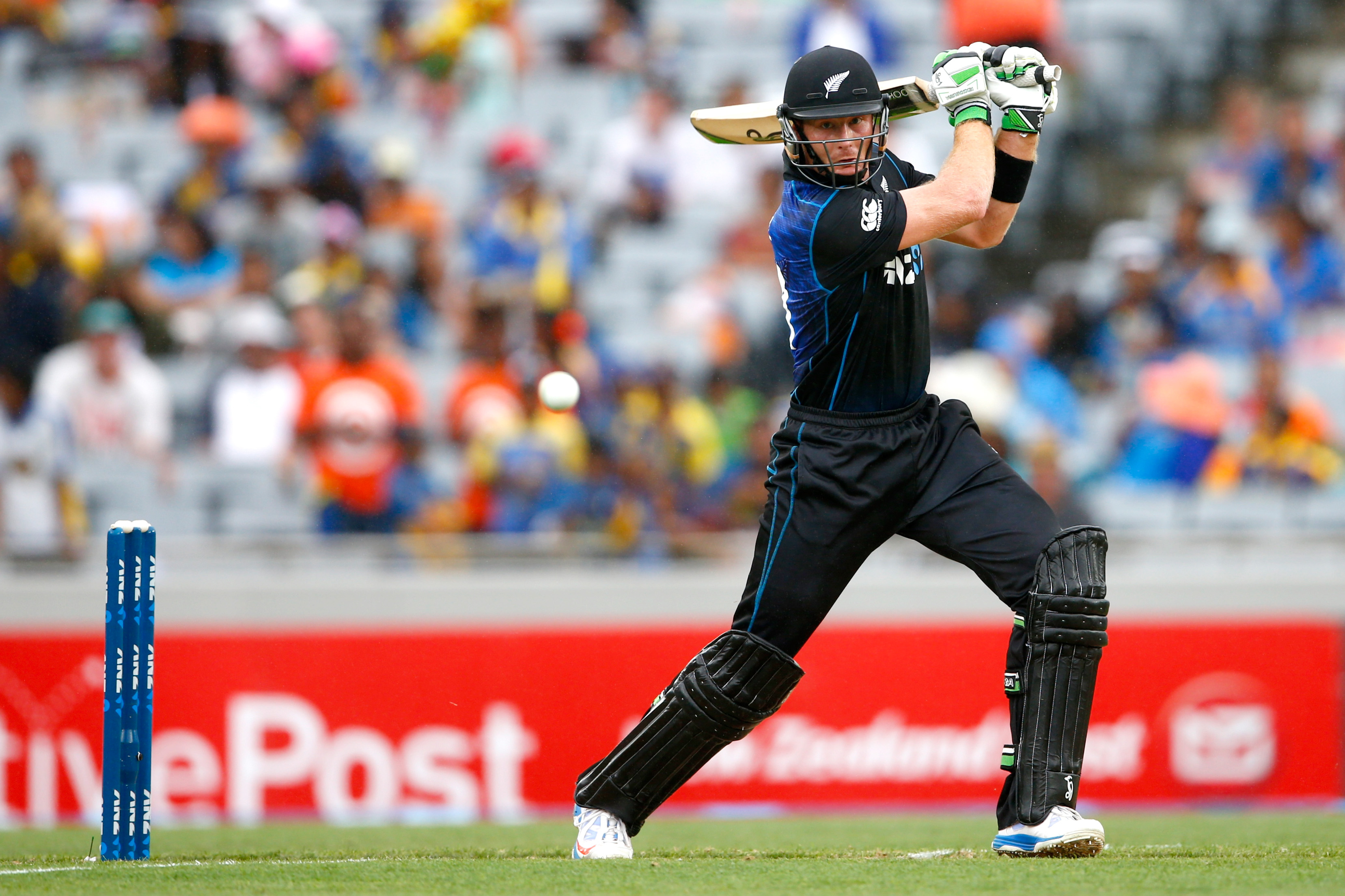 martin guptill new zealand batsman cover drive