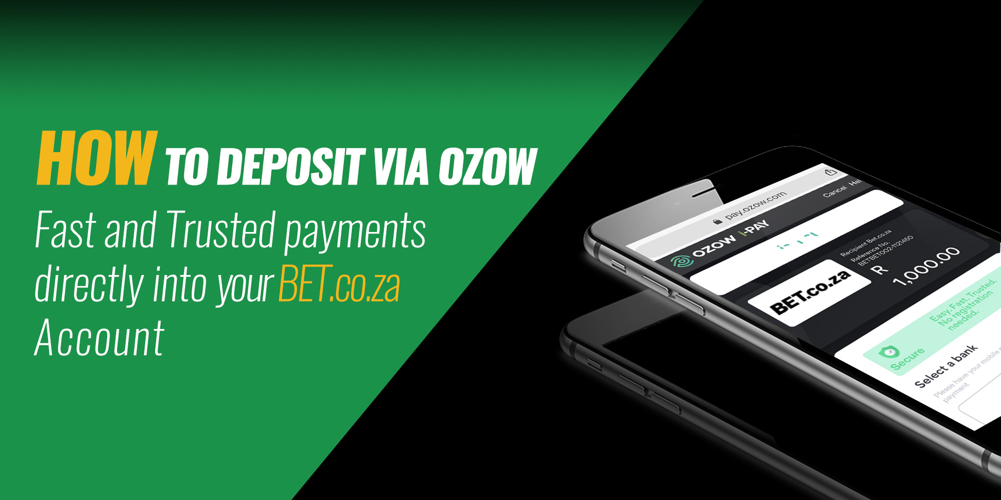 OZOW: HOW TO DEPOSIT ON BET.CO.ZA