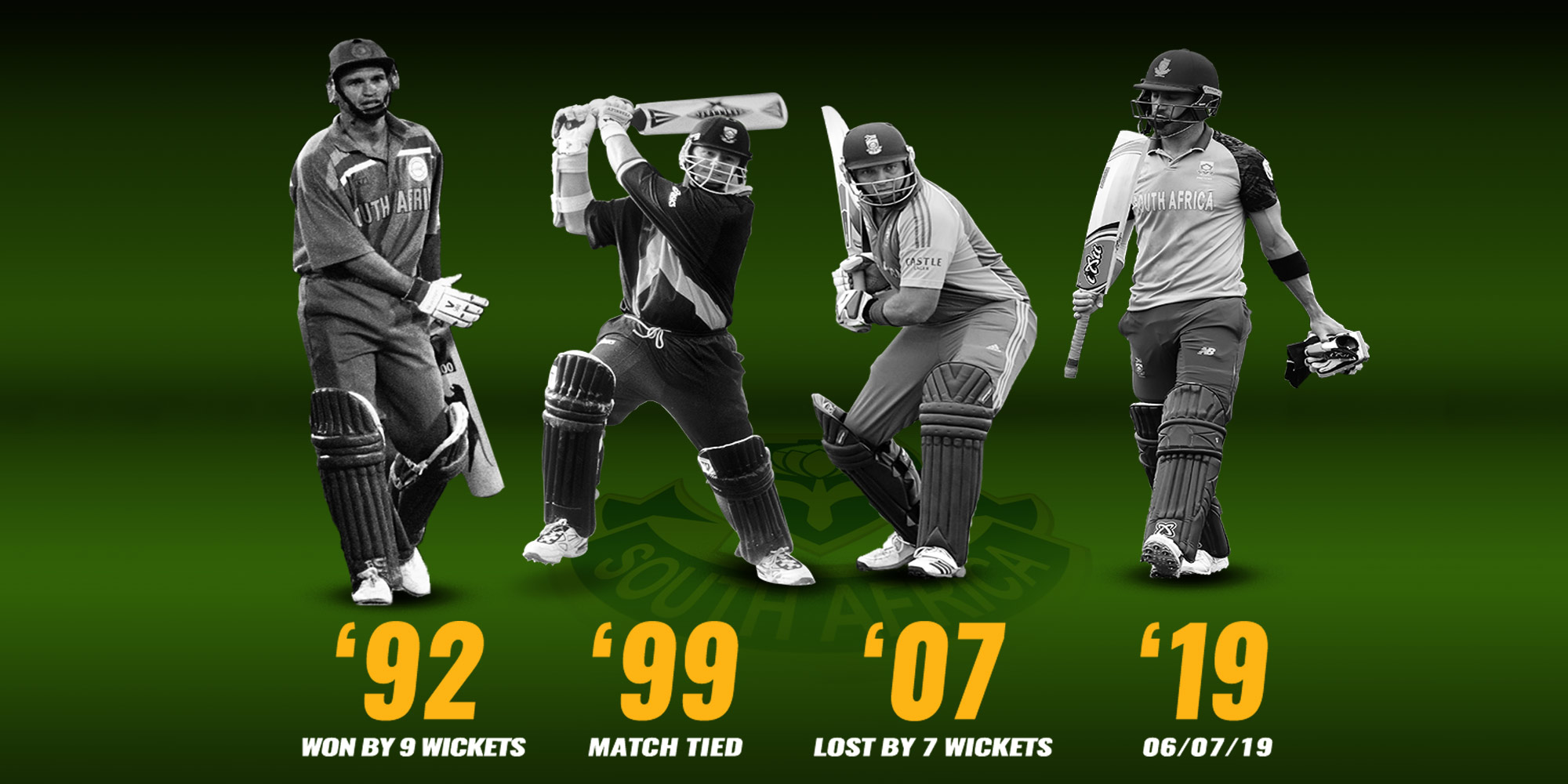 SOUTH AFRICA V AUSTRALIA: WORLD CUP HISTORY