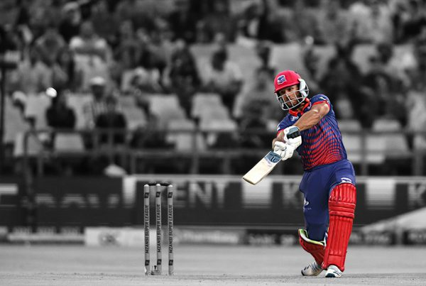 Janneman Malan drives behind square to the boundary Mzansi Super League Cape Town Blitz Nelson Mandela Bay Giants Newlands 2019